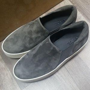 Vince Womens Suede Platform Skate Sneakers Shoes 6
